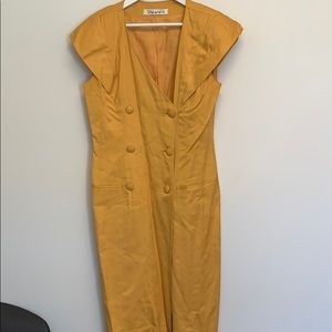 Tahari mustard dress size 12